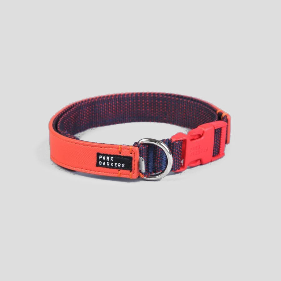 Park Barkers Red Vegan Leather Hyde Dog Collar