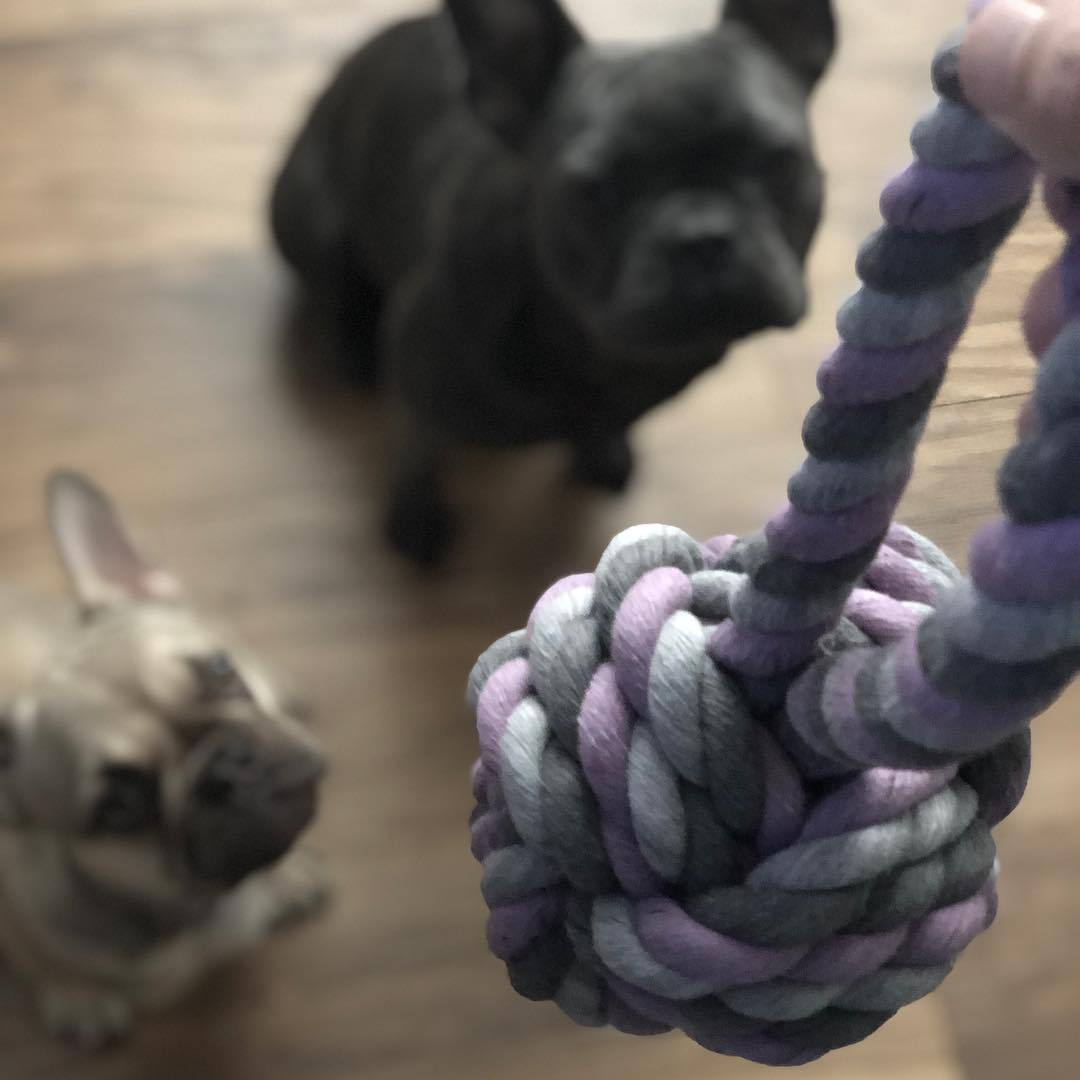 knotted rope ball for dogs