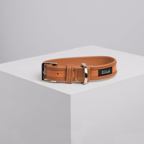 Molly Barker Sasha Leather Dog Collar - Brown