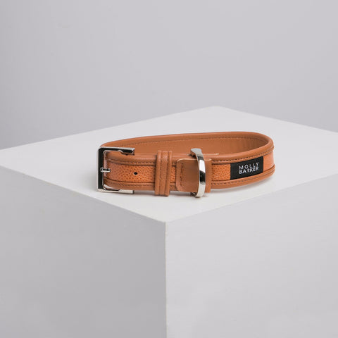 Dogatella Orange Leather Dog Collar