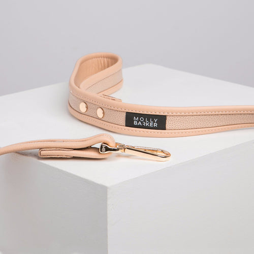 Molly Barker Sasha Leather Dog Lead - Nude