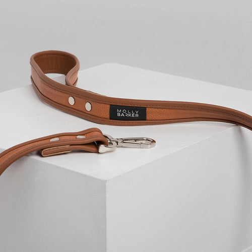 Molly Barker Sasha Leather Dog Lead - Brown