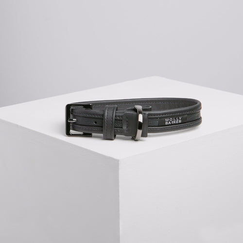 Molly Barker Sasha Leather Dog Collar - Black