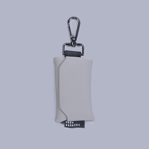 designer grey dog waste bag holder