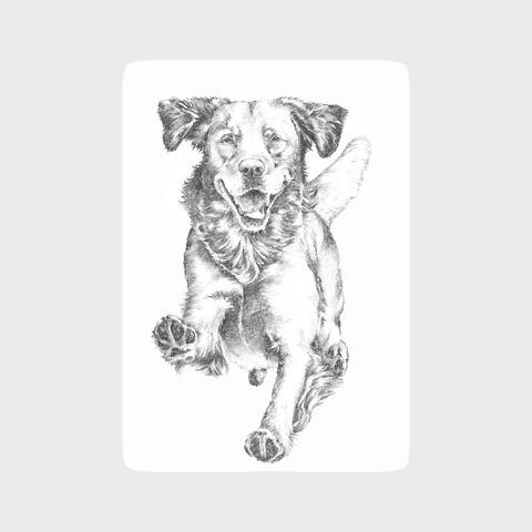 Dotty Dog Art Retriever print