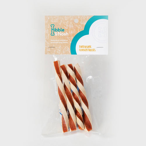 nibble & nosh Chicken Twist dog treats