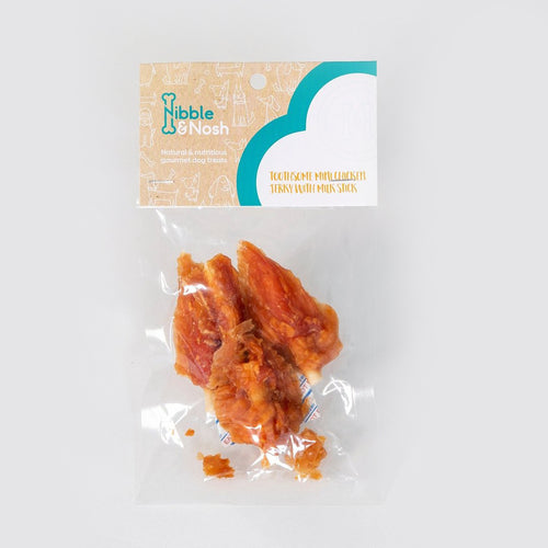 nibble & nosh Chicken Jerky With Milk Stick dog treats