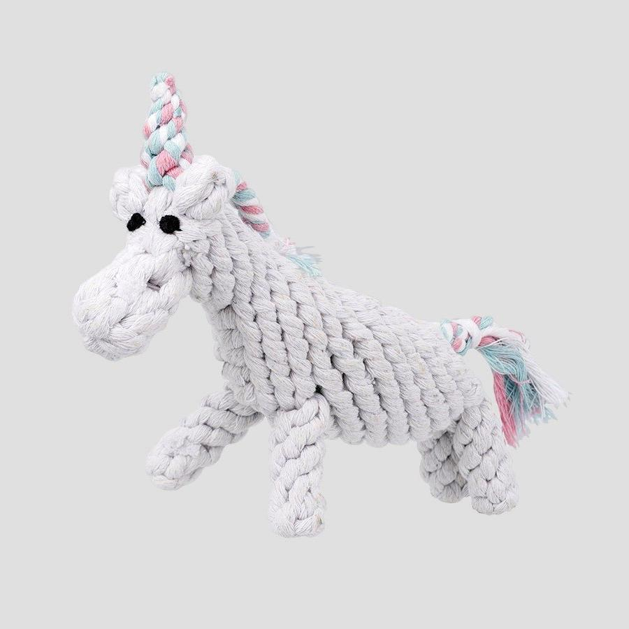 Jax & Bones Unicorn Rope Dog Toy