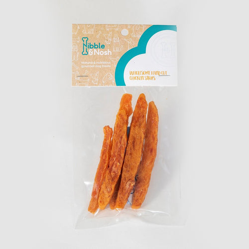 nibble & nosh Hand Cut Chicken Strip dog treats