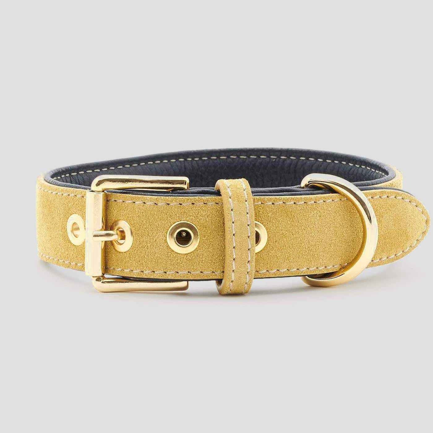 William Walker Leather Dog Collar - Midnight X Sun