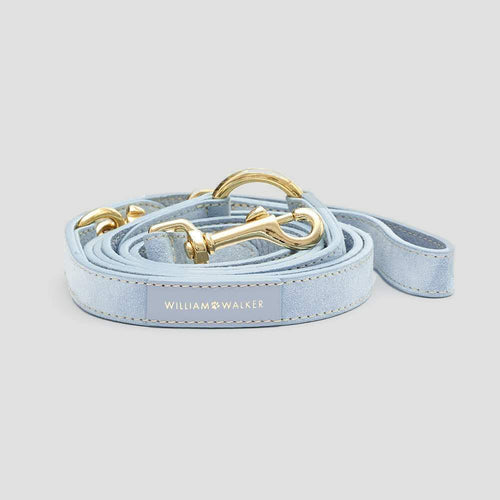 William Walker Leather Dog Leash - Sky