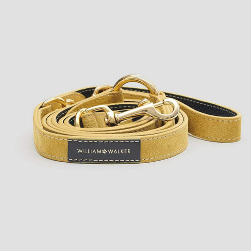 William Walker Leather Dog Leash - Midnight X Sun