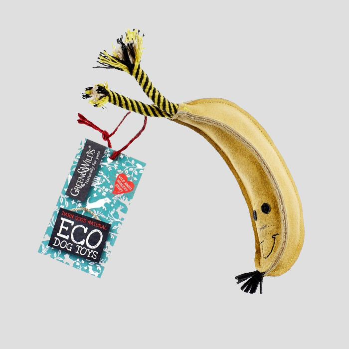 Green & Wilds Barry the Banana Eco Dog Toy