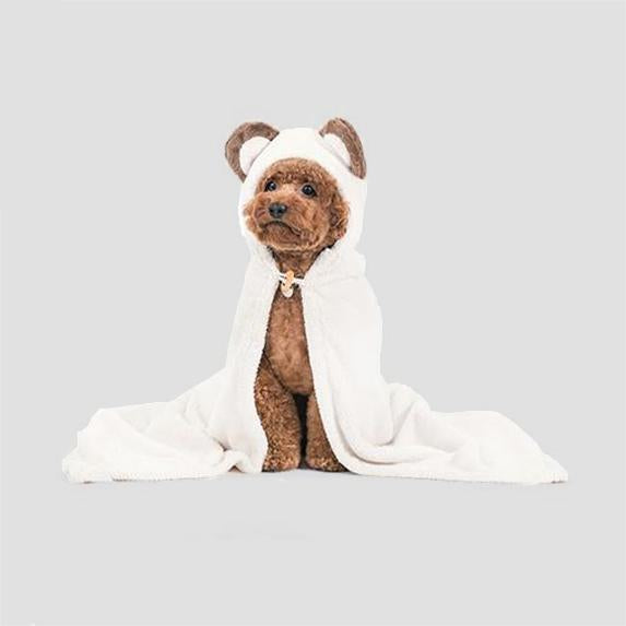 Pets So Good Animal Hood Dog Towel - Bear