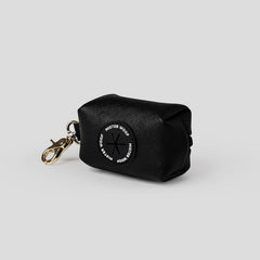 black leather doggy do bag