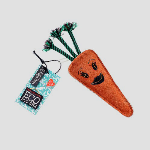 Green & Wilds Candice the Carrot Eco Dog Toy