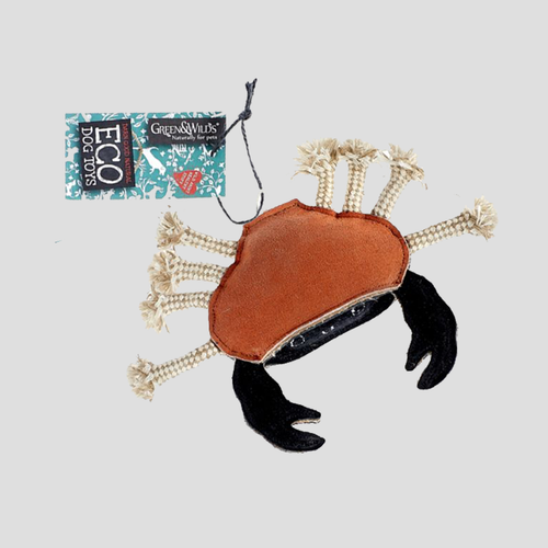 Green & Wilds Carlos the Crab Eco Dog Toy