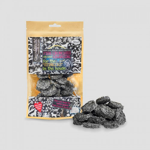 Green & Wilds Fish Crunchies with Charcoal Dog Treats
