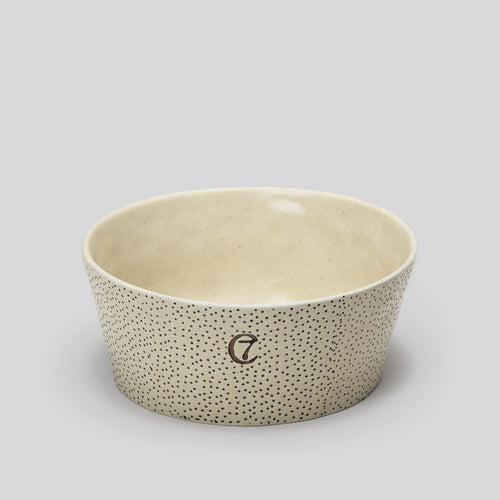 Cloud7 Yoji Creme Dots Dog Bowl