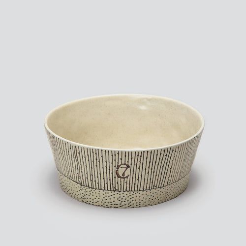 Cloud7 Yoji Creme Stripes Dog Bowl