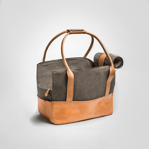 leather designer dog carrier