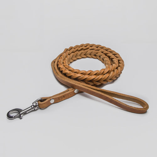 Cloud7 Central Park Camel Leather Dog Lead