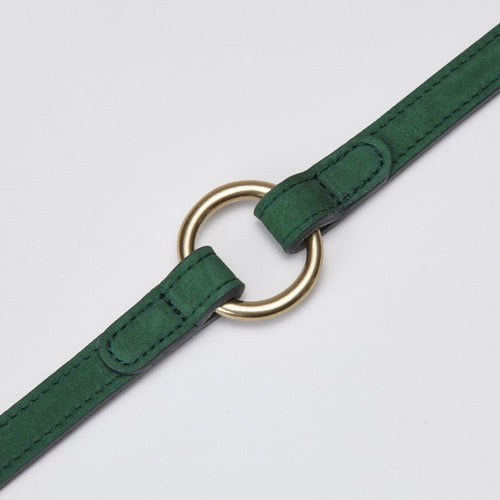 Cloud7 Tiergarten Park Green Leather Dog Lead