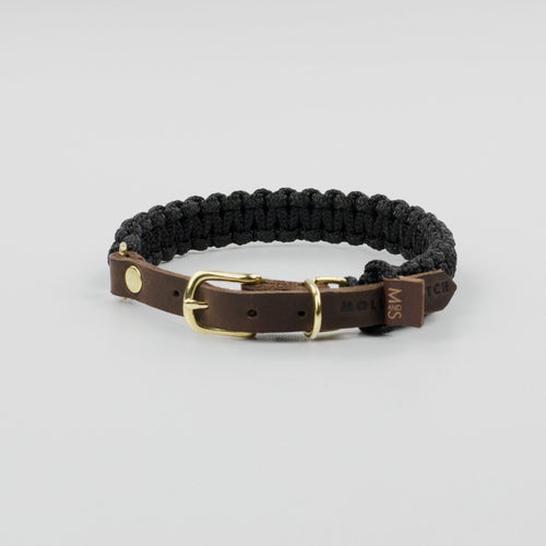 Molly & Stitch Touch of Leather Dog Collar - Noir