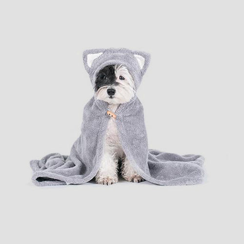 Pets So Good Animal Hood Dog Towel - Cat