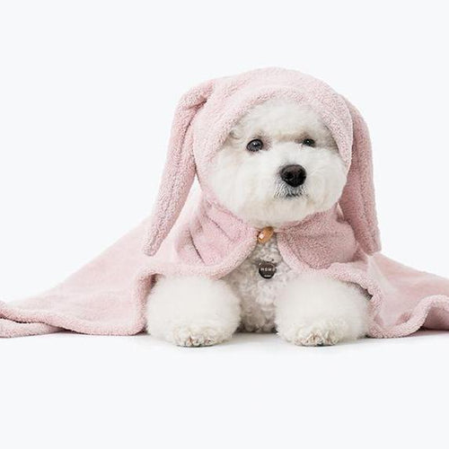 dog towel with rabbit ears