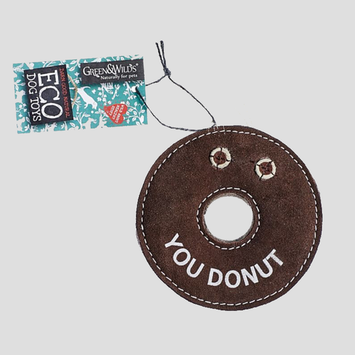 Green & Wilds Derrick the Donut Eco Dog Toy