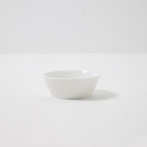 white dog food bowl