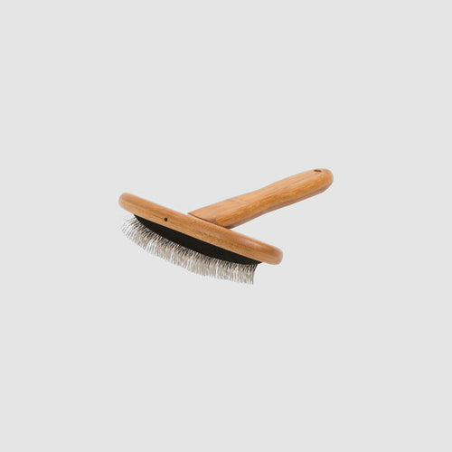 Essential Dog Natural Bamboo Slicker Dog Brush