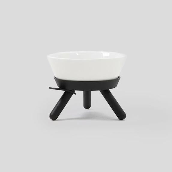 Pets So Good Oreo Dog Bowl & Table - Black & White