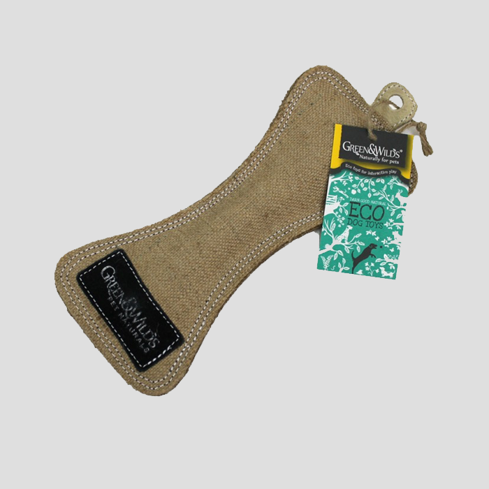 Green & Wilds Funny Bone Eco Dog Toy