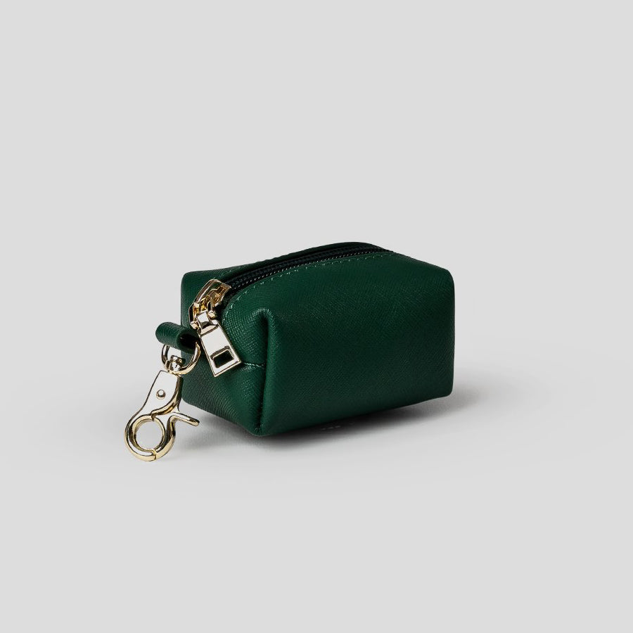 green leather doggy do bag
