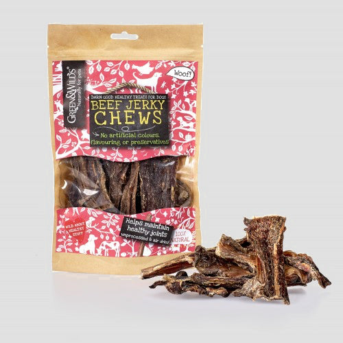 Green & Wilds Beef Jerky Dog Chews