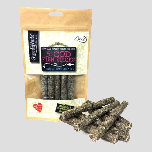 Green & Wilds Cod Fish Sticks Dog Treats