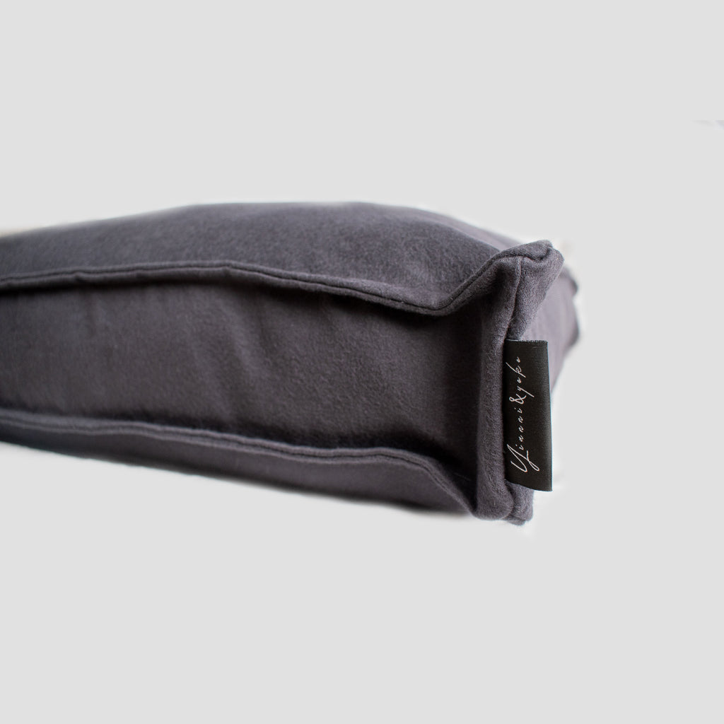 Yianni & Yoko Luxury Deep Fill Dog Cushion - Charcoal