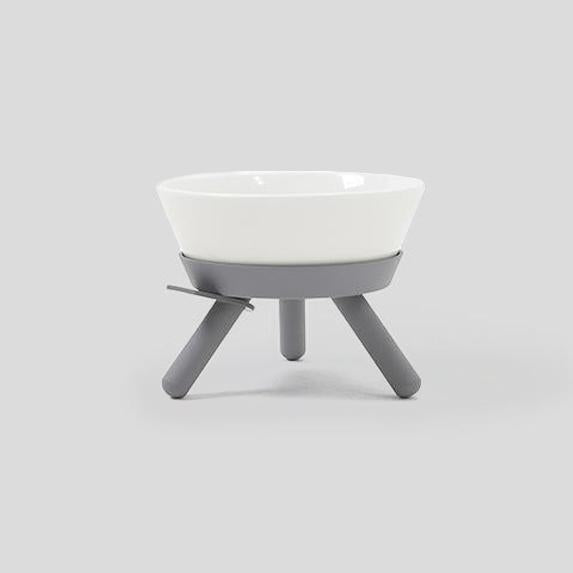 Pets So Good Oreo Dog Bowl & Table - Grey