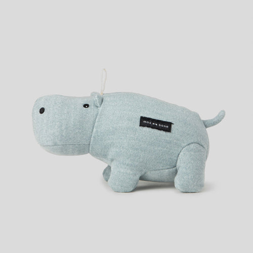 Max Bone Hudson Hippo Plush Dog Toy
