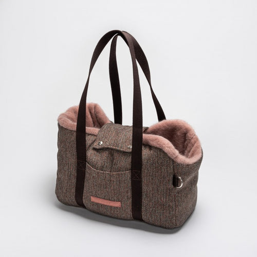 Cloud7 Milano Herringbone Brown Dog Carrier