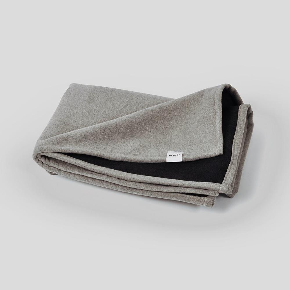 Mister Woof Soft Grey and Black Dog Blanket