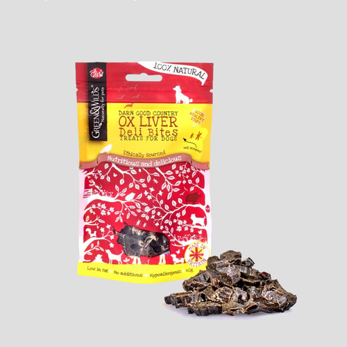 Green & Wilds Ox Liver Deli Bites Dog Treats