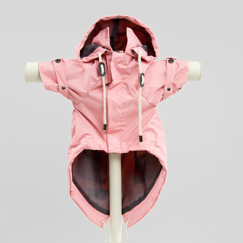 Max Bone Talon Dog Raincoat - Pink