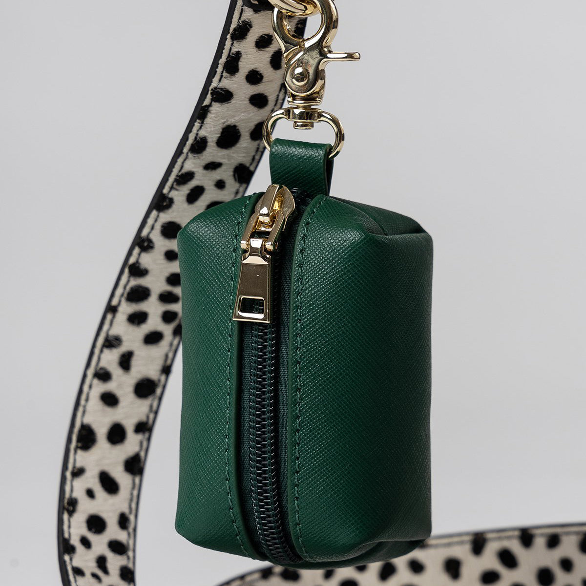 green leather dog accessories