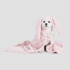 Pets So Good Animal Hood Dog Towel - Rabbit