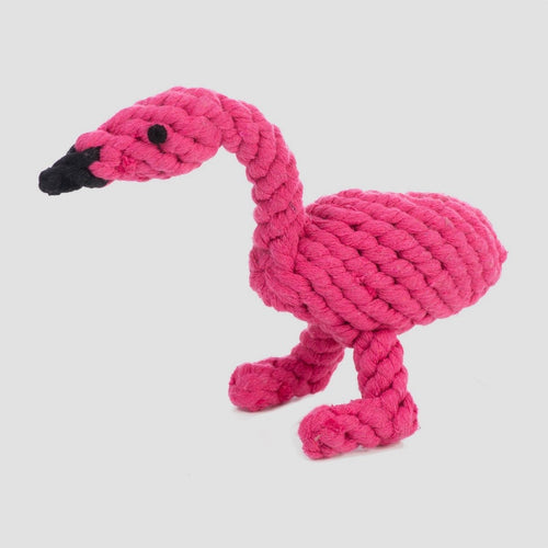 Jax & Bones Fran the Flamingo Rope Dog Toy