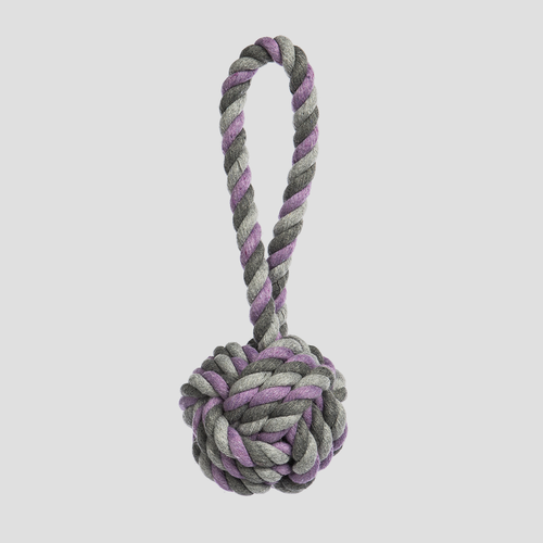 Jax & Bones Mauve Tri-Color Knot Rope Dog Toy
