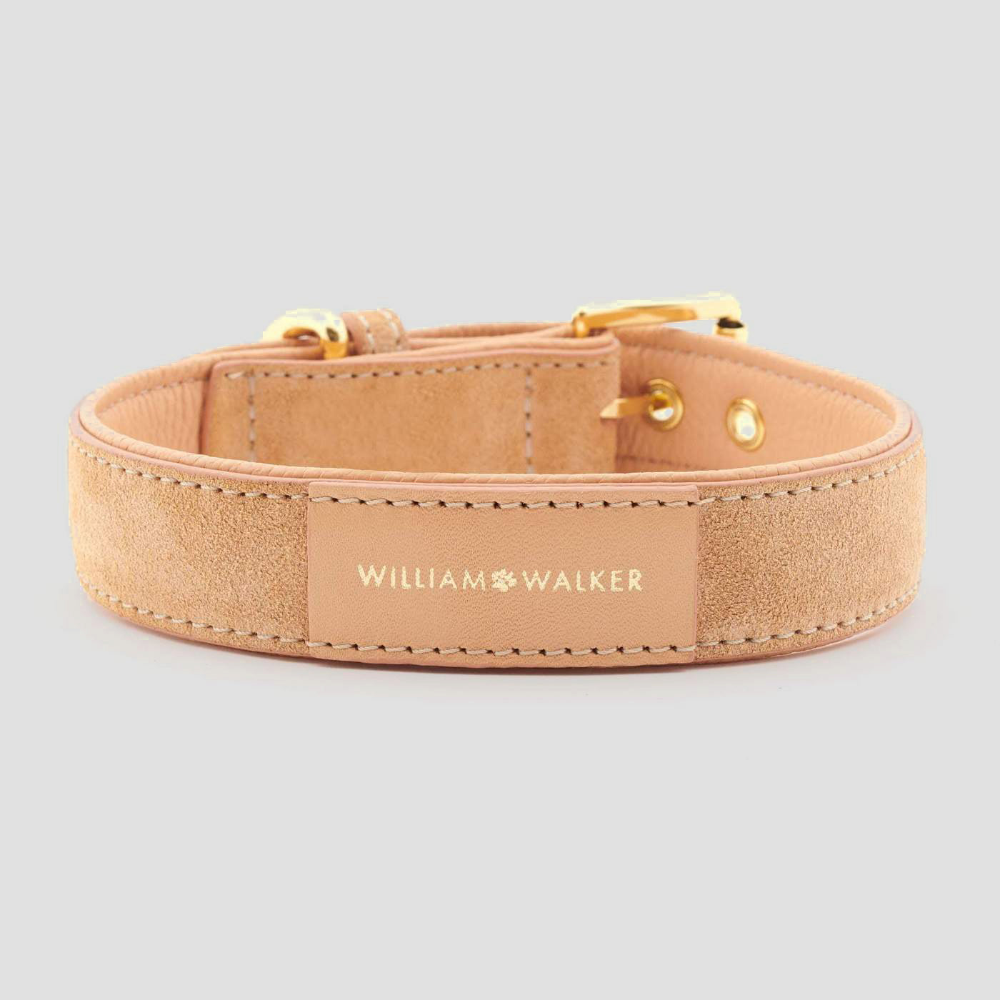 William Walker Leather Dog Collar - Coral